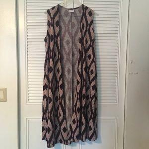"""LulaRoe """"Joy"""" sleeveless vest/cardigan"""